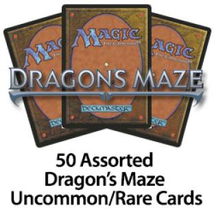 50 Assorted Dragon's Maze Uncommons Rares Cards