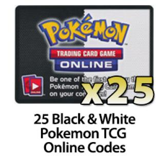25 Pokemon TCG Online Codes - Black and White