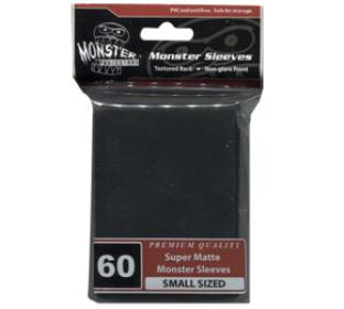 Monster Yugioh Sized Sleeves 60ct - Super Matte Black