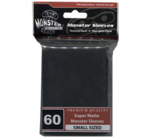 Monster Yugioh Sized Sleeves 60ct - Super Matte Black