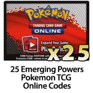 25 Pokemon TCG Online Codes - Emerging Powers