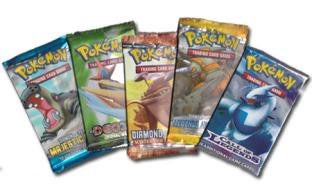 5 Assorted Pokemon TCG Booster Packs Grab Bag