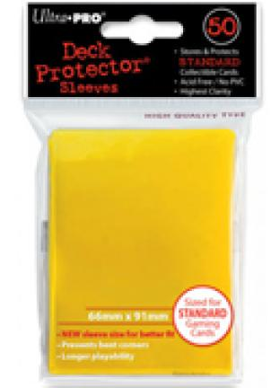 Ultra Pro - Yellow - Pack of 50 Sleeves - Standard Size