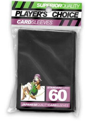Player's Choice Standard Sleeves Pack of 60 in Black