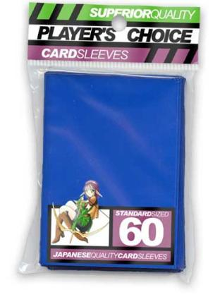 Player's Choice Standard Sleeves Pack of 60 in Blue