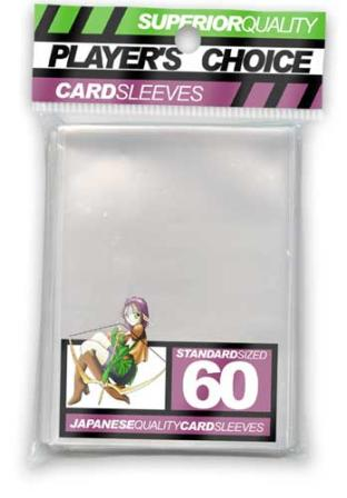 Player's Choice Standard Sleeves Pack of 60 in Clear