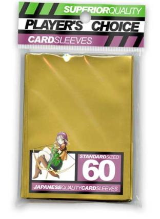 Player's Choice Standard Sleeves Pack of 60 in Gold