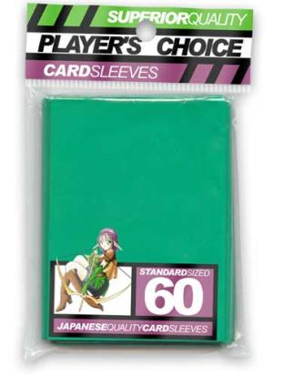 Player's Choice Standard Sleeves Pack of 60 in Green