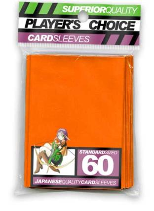 Player's Choice Standard Sleeves Pack of 60 in Orange