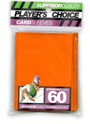 Player's Choice Standard Sleeves Pack of 60 in Orange
