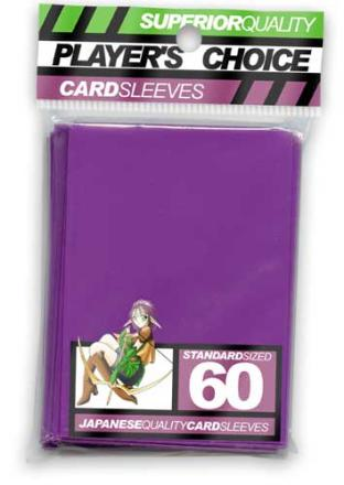Player's Choice Standard Sleeves Pack of 60 in Purple