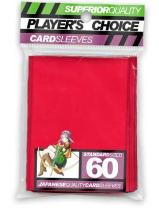 Player's Choice Standard Sleeves Pack of 60 in Red