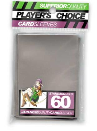 Player's Choice Standard Sleeves Pack of 60 in Silver