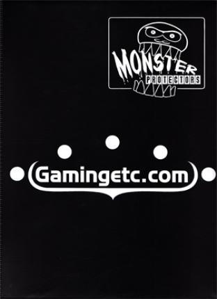 9 Pocket Monster Binder - Black with Gamingetc.com Logo