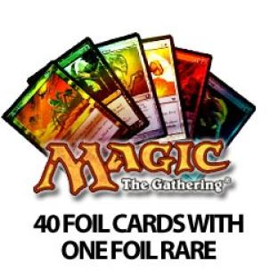 40 Foil Magic the Gathering Cards with Foil Rare
