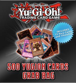 500 Yugioh Card Grab Bag + 15 Rares and 1 Super Rare Holofoil