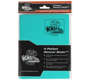 4-Pocket Monster Binder - Teal