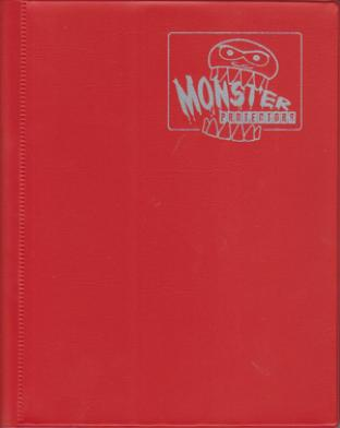4-Pocket Monster Binder - Red