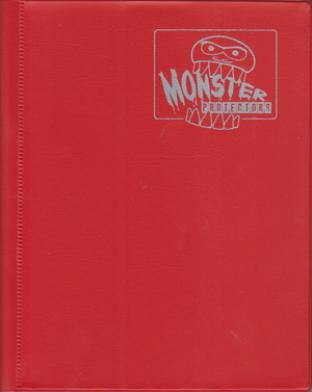 4-Pocket Monster Binder - Red