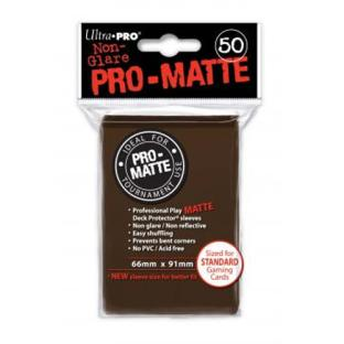 Ultra Pro - Pro Matte Card Sleeves - Brown (50 Count)