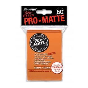 Ultra Pro - Pro Matte Card Sleeves - Orange (50 Count)