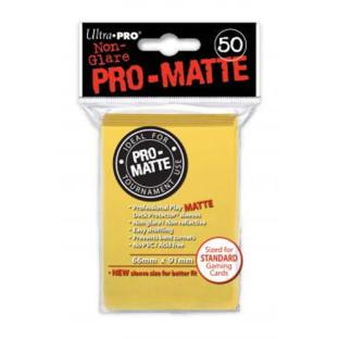 Ultra Pro - Pro Matte Card Sleeves - Yellow (50 Count)