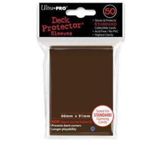 Ultra Pro - Brown - Pack of 50 Sleeves - Standard Size
