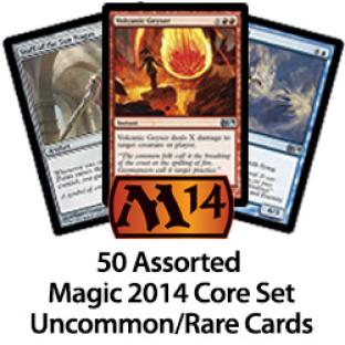 50 Assorted Magic 2014 Uncommons Rares Cards