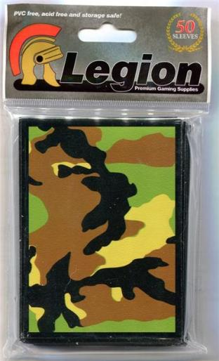 Legion Green Camo Standard Sized 50 ct Sleeves