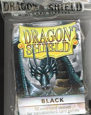Dragonshield Mini Sleeves Pack of 50 in Black