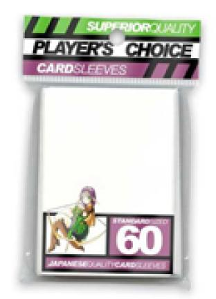 Player's Choice Standard Sleeves Pack of 60 in White