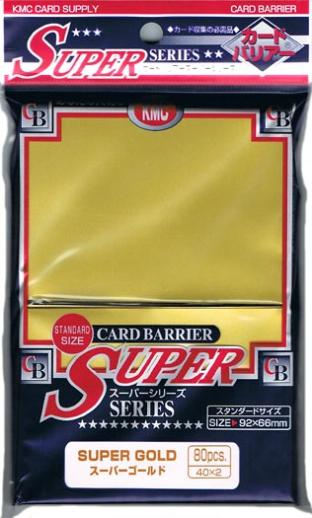 Japanese KMC Pack of 80 Sleeves in Super Gold