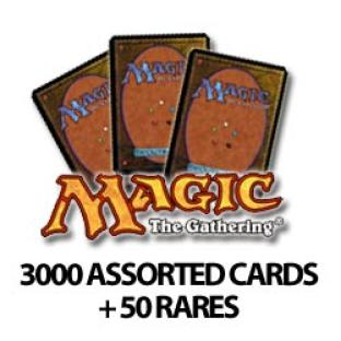 3000 Assorted MTG Magic: The Gathering Cards with 50 Rares