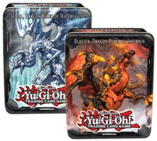 Yugioh 2013 Collectible Tins Wave 1 - Set of 2 - Blaster and Tidal Dragon