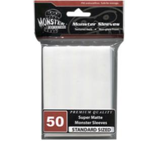 Monster Standard Sized Sleeves 50ct - Super Matte White