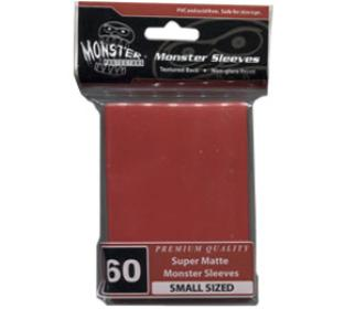 Monster Yugioh Sized Sleeves 60ct - Super Matte Red