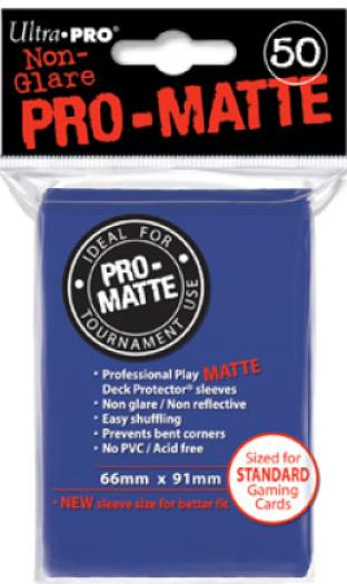Ultra Pro - Pro Matte Card Sleeves - Blue (50 Count)
