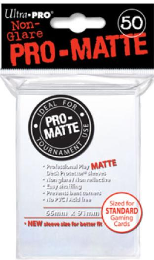 Ultra Pro - Pro Matte Card Sleeves - White (50 Count)
