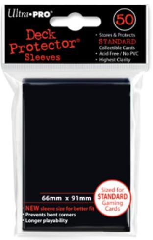 Ultra Pro - Black - Pack of 50 Sleeves - Standard Size