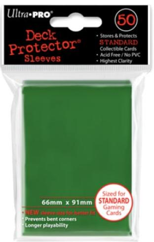 Ultra Pro - Green - Pack of 50 Sleeves - Standard Size