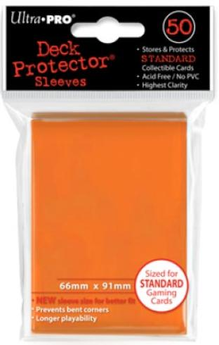 Ultra Pro - Orange - Pack of 50 Sleeves - Standard Size