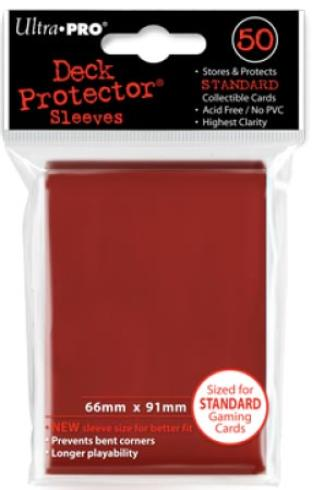 Ultra Pro - Red - Pack of 50 Sleeves - Standard Size