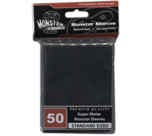 Monster Standard Sized Sleeves 50ct - Super Matte Black