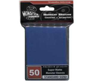Monster Standard Sized Sleeves 50ct - Super Matte Blue