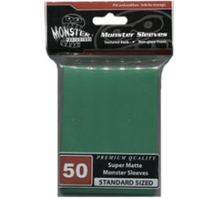 Monster Standard Sized Sleeves 50ct - Super Matte Green