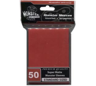 Monster Standard Sized Sleeves 50ct - Super Matte Red