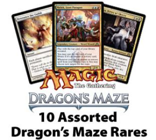 10 Assorted Dragon's Maze Rare Cards