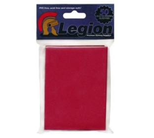 Legion Matte Red Standard Sized Sleeves 50 ct