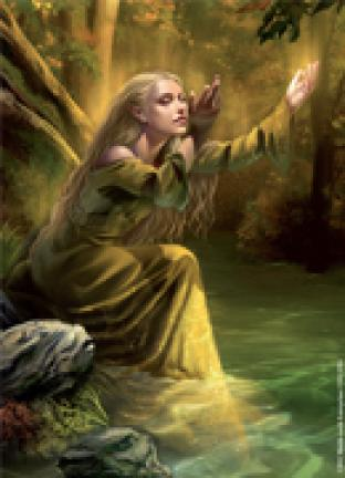 Fantasy Flight - Lord of the Rings Sleeves - Goldenwood Singer (50 Count) - Standard Sized