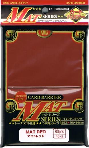 Japanese KMC Pack of 80 Sleeves in Matte Red
